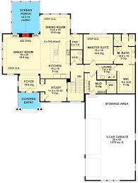 Craftsman House Plan with Sports Court RK