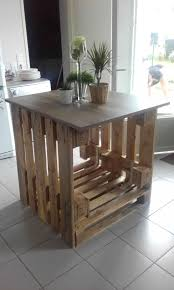 table de cuisine en palette inouï ilot central cuisine bois ilot central palette collection et