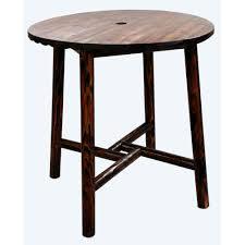 Log Dining Room Tables by Leigh Country Char Log Patio Bar Height Dining Table Tx 93751