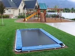 Trampoline Backyard Best 25 In Ground Trampoline Ideas On Pinterest Backyard