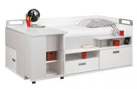 lit avec bureau coulissant lit pour adolescent avec de nombreux rangements et un bureau intégré