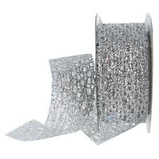 bling ribbon 1 1 2 silver bling web ribbon hobby lobby 374561