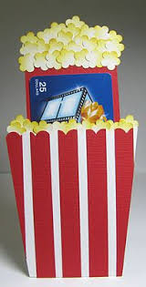 tickets gift card great idea to give away a striped cinema ticket celebrate ideas