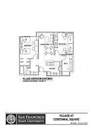 Floor Plans For A Restaurant by Village At Centennial Square Sf State Housing