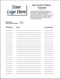 Bid Sheets For Silent Auction Template Free Printable Silent Auction Template Silent Auction Bid Sheet