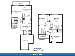 duplex home floor plans jeb little creek fort story u2013 gela point neighborhood 3 bedroom