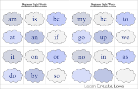 2 letter beginner sight words