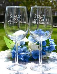Engravable Wedding Gifts Personalized Engraved Wedding Wine Glasses