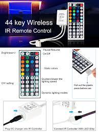 supernight tm ir remote controller 44 keys for rgb led light