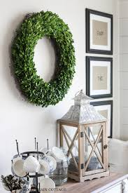 Indoor Wreaths Home Decorating | how to decorate with boxwood wreaths year round the wood grain