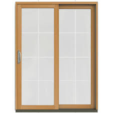 Sliding Door With Blinds Between Glass by Masterpiece Composite White Right Hand Smooth Interior With Low E