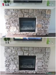 gray washed fireplace stone using annie sloan chalk paint life