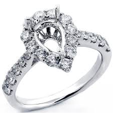 buy rings cheap images 1 07 cts pear drop diamond halo engagement ring setting set in 18k jpg