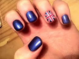 brush up and polish up cnd shellac nail art union jack