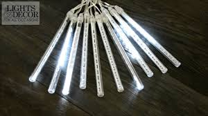 cool white icicle lights icicle lights cascading led 19 foot clear wire plug in cool
