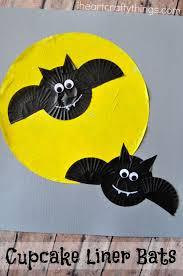 cupcake liner bats halloween craft cupcake liners halloween