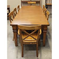 Pottery Barn Dining Room Set by Pottery Barn Dining Table W 8 Chairs Upscale Consignment