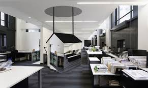 Hi Tech House Endearing Hi Tech Office Design With Green Combination Gray Wooden