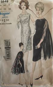 vogue special design vintage sewing pattern 5648 60s party