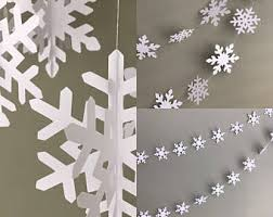 snowflake decorations winter snowflake etsy