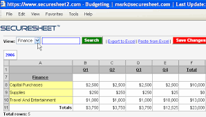 Multi User Spreadsheet Spreadsheets Multi User Business Spreadsheets Securesheet
