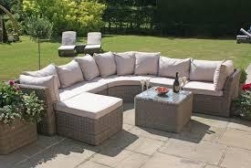 Maze Rattan Winchester Round Corner Sofa Set - Round outdoor sofa 2