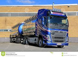 volvo truck tractor for sale new volvo fh tank truck by a warehouse editorial photography