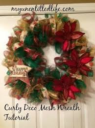how to make a curly deco mesh wreath tutorial my unentitled