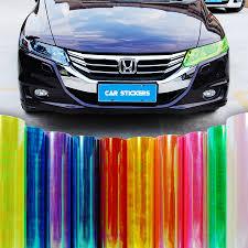 protection si e arri e voiture car styling 13 colors 30x180cm car light headlight taillight protect