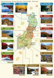 map for autumn foliage special feature featured destinations jr east