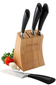 kitchen knives block set oneida 5 knife block set reviews wayfair