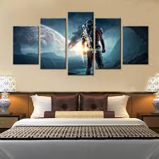 Painting For Home Interior Online Shop 5 Pcs Game Mass Effect Andromeda Painting For Home