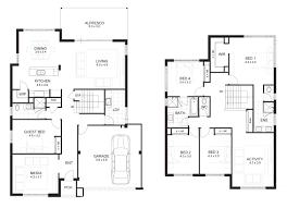 inspiring two storey residential house floor plan 25 in home