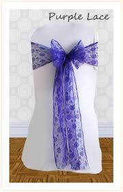 Purple Chair Sashes Chair Sash Hire For Weddings