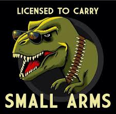 Funny T Rex Meme - tyrannosaurus rex t rex joke licensed to carry small arms