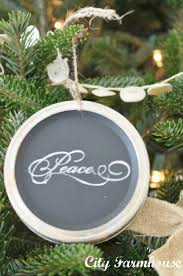 mason jar chalkboard lid ornaments recycled christmas project 7
