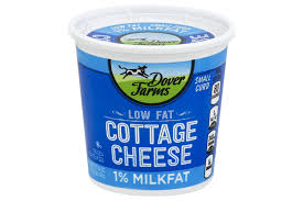 Cottage Cheese Singles by Dover Farms Small Curd 1 Milkfat Low Fat Cottage Cheese 24 Oz