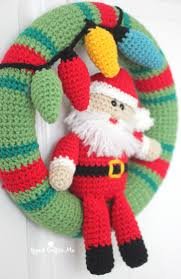 crochet christmas wreath repeat crafter me