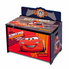 Wooden Toy Chest Instructions by Disney Cars Deluxe Toy Box Walmart Com