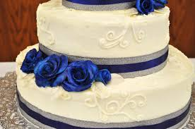 royal blue and silver wedding cakejoy royal blue and silver wedding