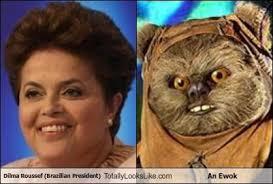 Ewok Meme - dilma roussef brazilian president totally looks like an ewok