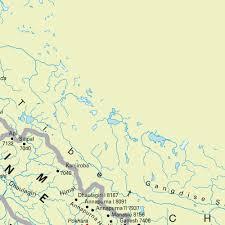 Himalayan Mountains Map Map Himalayas Maps And Directions At Map