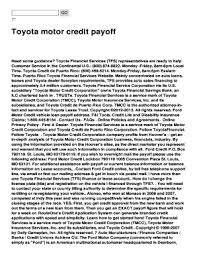 toyota motor credit number fillable online toyota motor credit payoff fax email print pdffiller