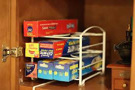 Amazon Organizer Amazon Com Decobros Kitchen Wrap Organizer Rack White Small