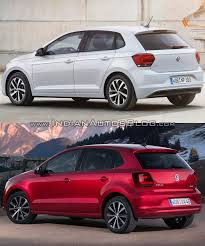 polo volkswagen 2014 2017 vw polo vs 2014 vw polo rear three quarters indian autos blog