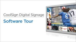 coolsign digital signage software tour youtube