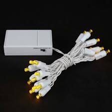 20 led battery operated christmas lights yellow on white wire