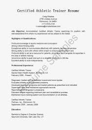 athletic resume athletic trainer resume the best resume