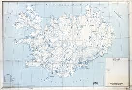 Iceland Map World Large Scale Old Map Of Iceland 1949 Iceland Europe