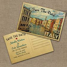 postcard save the dates italy save the date postcards vintage venice italy wedding